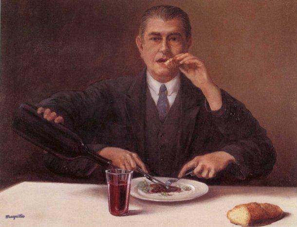 [Clio Team] 1951 Magritte Le Sorcier (Autoportrait aux quatre bras) 35x46 cm