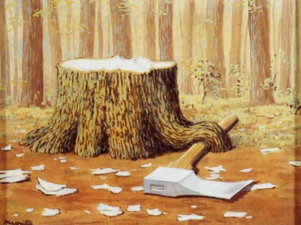 [Clio Team] 1958 Magritte Les Travaux d'Alexandre, 20x25 cm