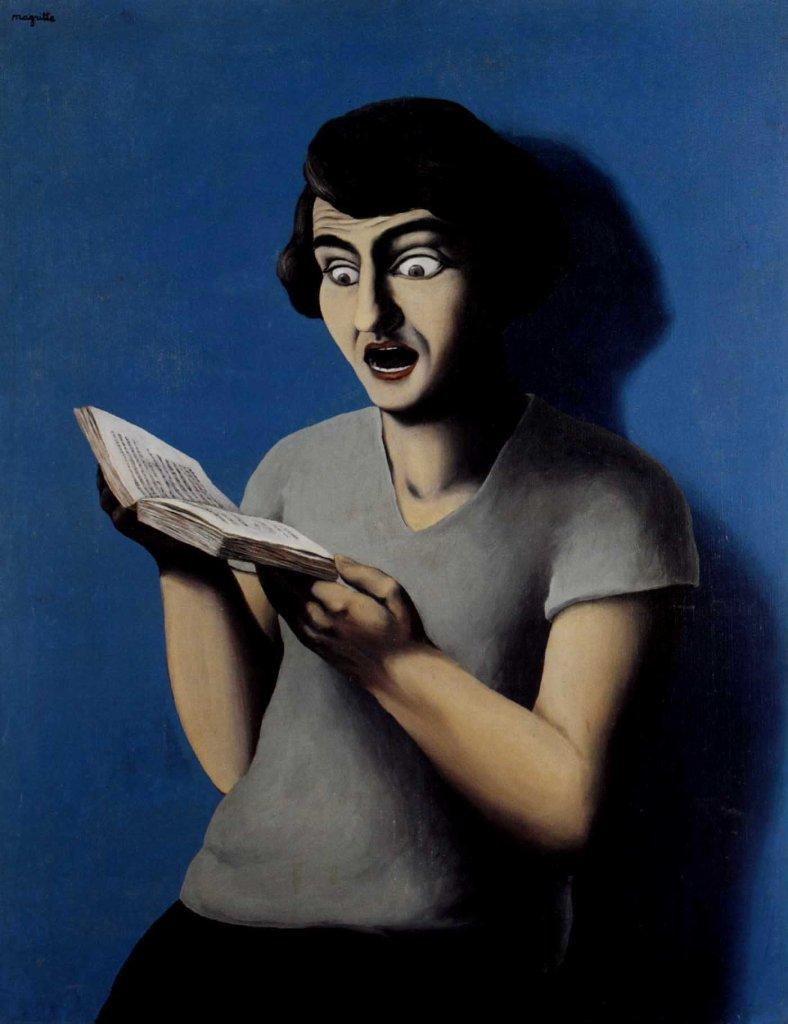 Magritte - La lectrice soumise, 1928