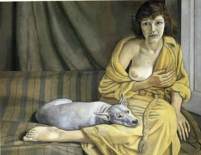 Lucien Freud - Girl with a white dog